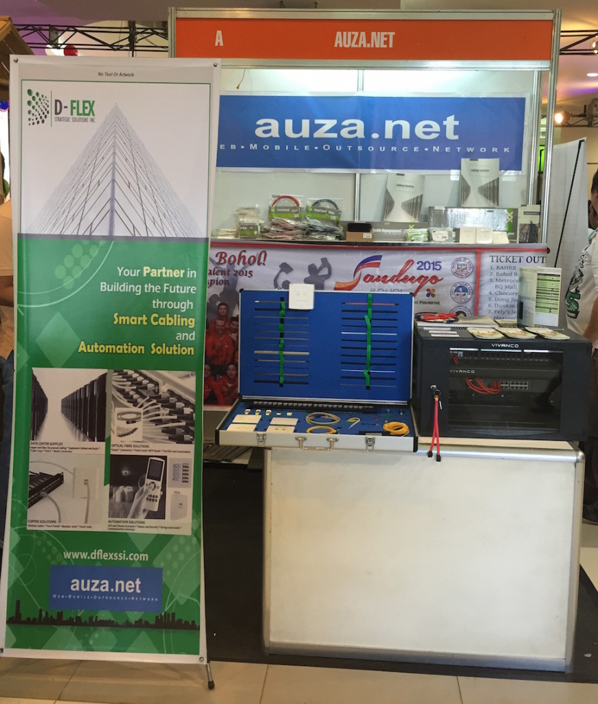 The Auza.Net booth at the Island City Mall, Tagbilaran City near the activity center entrance.  Sandugo Trade Expo runs from July 22-27, 2015.
