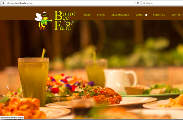 Screenshot of the main webpage of the new Bohol Bee Farm website.